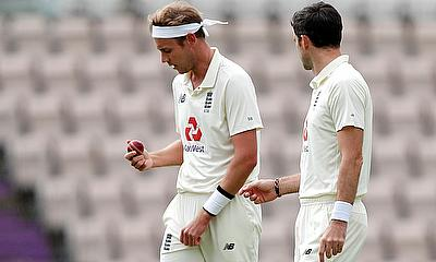 England's Stuart Broad and James Anderson