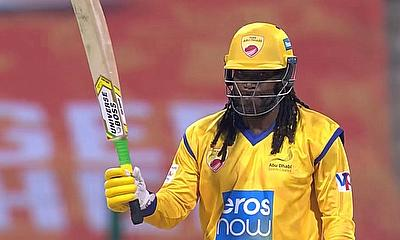 Chris Gayle #UniverseBoss 84* off 22 balls (record equalling 50 off 12 balls) against Maratha Arabians