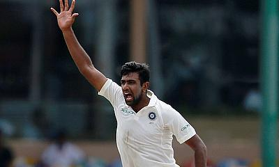 Ravichandran Ashwin celebrates
