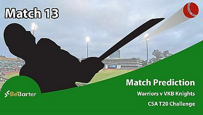 CSA T20 Challenge 2021- Warriors vs VKB Knighs- Match 13