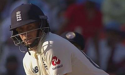 Joe Root batting for England