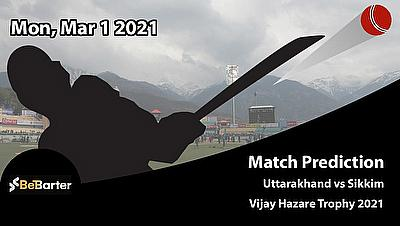 Fantasy Cricket Predictions and Betting Tips: Uttarakhand vs Sikkim, Round 5, Plate