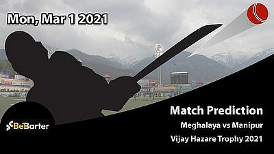 Fantasy Cricket Predictions and Betting Tips: Meghalaya vs Manipur, Round 5, Plate