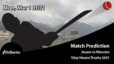 Fantasy Cricket Predictions and Betting Tips: Assam vs Mizoram, Round 5, Plate
