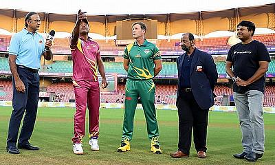 Road Safety World Series 2020/21 – Lara and Rhodes at the toss in 2020
