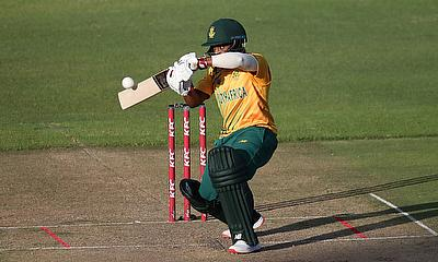Temba Bavuma in action for South Africa