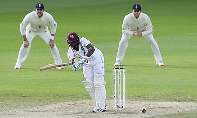 West Indies' Kemar Roach in action