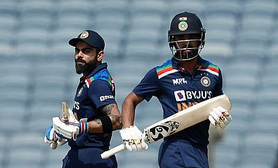 India's Virat Kohli and KL Rahul in action