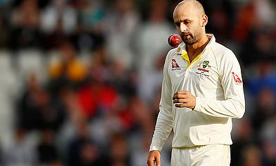 Nathan Lyon in action