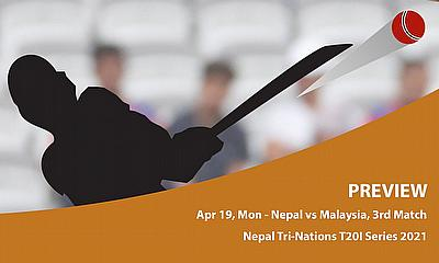Cricket Betting Tips & Match Predictions : Nepal Tri-Nation T20I Series 2021- Malaysia vs Nepal- Match 3