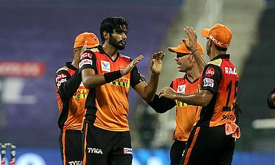 Sunrisers celebrate a wicket