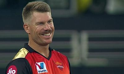 David Warner - will he still be smiling after the SRH encounter with DC?