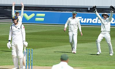 Action from Warwickshire v Worcestershire