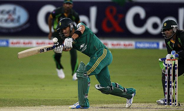 Du Plessis plays a shot