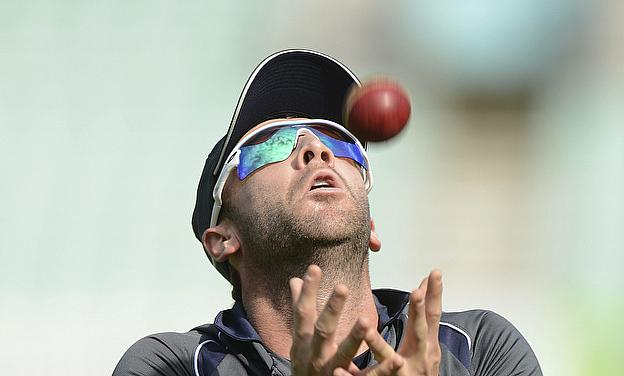 Phillip Hughes takes a catch in training