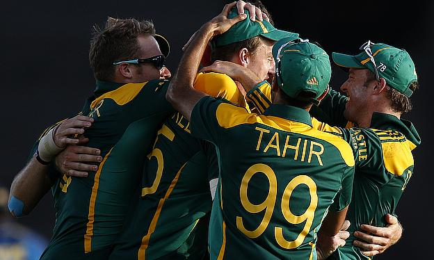 South Africa beat the West Indies by 61 runs in the first One-Day International in Durban