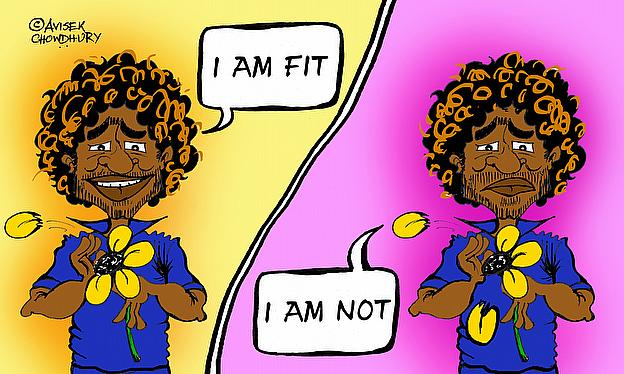 Cartoon: Is Malinga Fit or Unfit For World Cup?