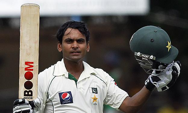 Mohammad Hafeez scored his maiden double century against Bangladesh in the first Test in Khulna.