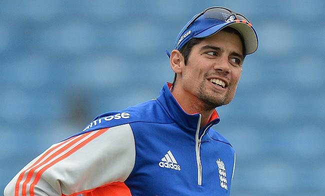 Alastair Cook during a practice session in Headingley.