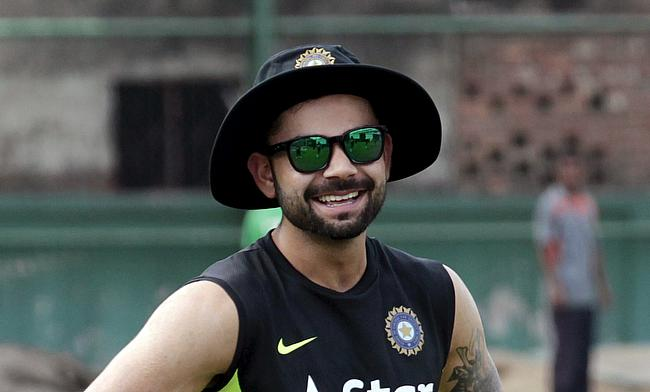 All eyes were on Virat Kohli, India's new Test captain