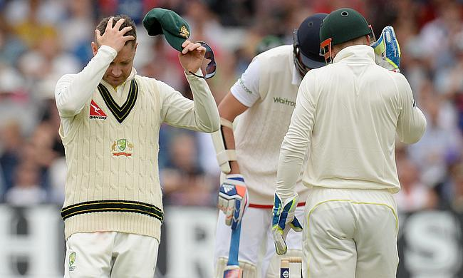 Australia's Michael Clarke during the fourth Ashes Test