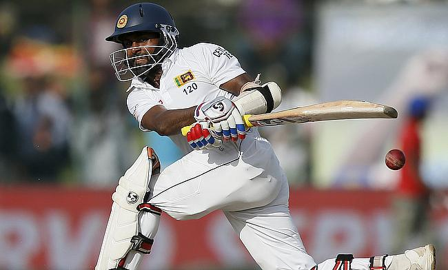 Kaushal Silva scored a determined 51 for Sri Lanka on day two of the second Test in Colombo.