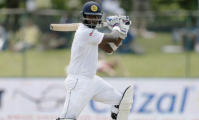 Angelo Mathews scored a fine century to take Sri Lanka to 306 in their first innings against India in the second Test in Colombo.