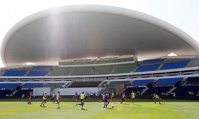 England train in Abu Dhabi ahead of the first Test against Pakistan