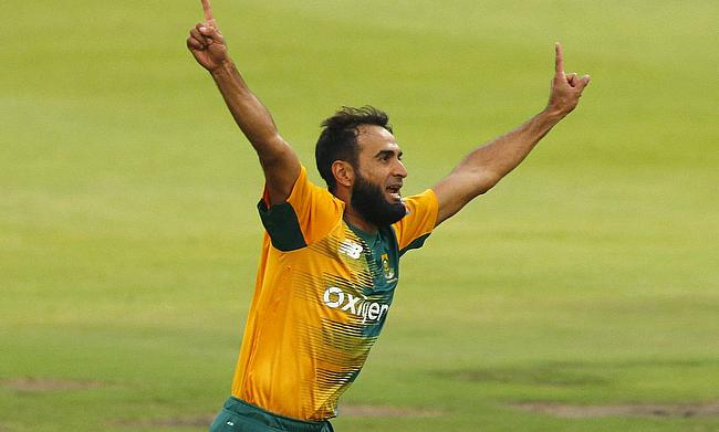 Earlier in the game, Imran Tahir picked a four-wicket haul for the Proteas.