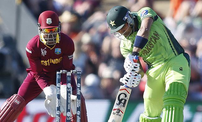 Action from the World Cup clash between Pakistan and the West Indies