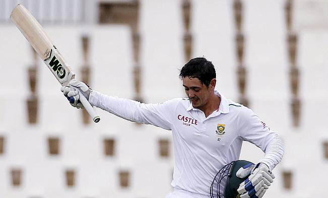Quinton de Kock scored 82 opening the batting for South Africa.