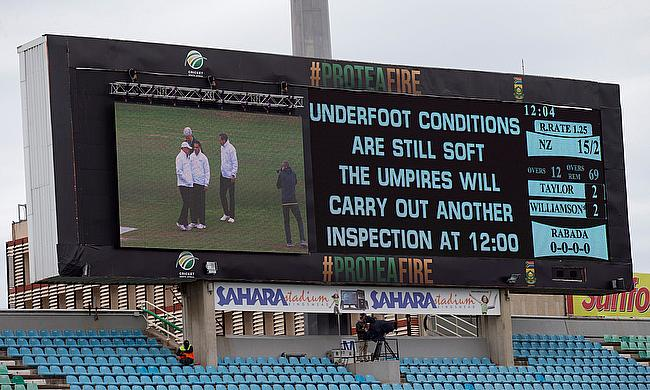 The game at Kingsmead ended in a draw after losing almost four days to wet outfield.