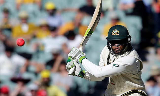 Usman Khawaja top scored for Australia with 74 in the second innings