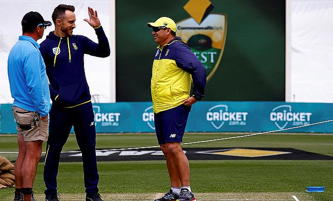 Russell Domingo (right) believes the pitch in Port Elizabeth will benefit South African seamers