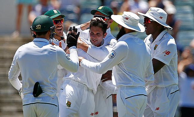 Keshav Maharaj picked two wickets for South Africa on day four
