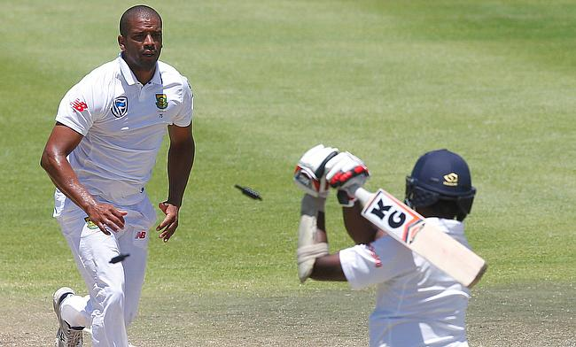 Vernon Philander (left) was among the wickets once again