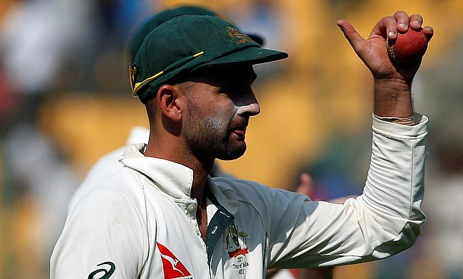 Nathan Lyon registered figures of 50 for eight in Bengaluru