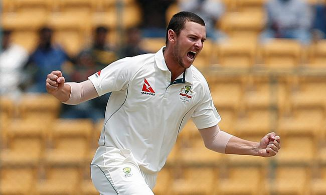 Josh Hazlewood picked three wickets on day three