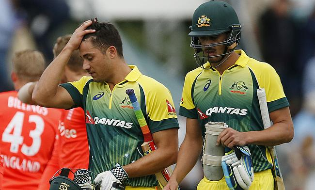 Marcus Stoinis (left) will join the Australian squad at the end of the Sheffield Shield game for Victoria