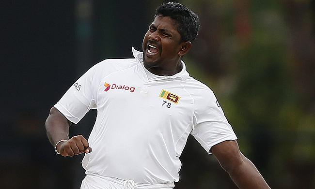 Rangana Herath picked three wickets for Sri Lanka