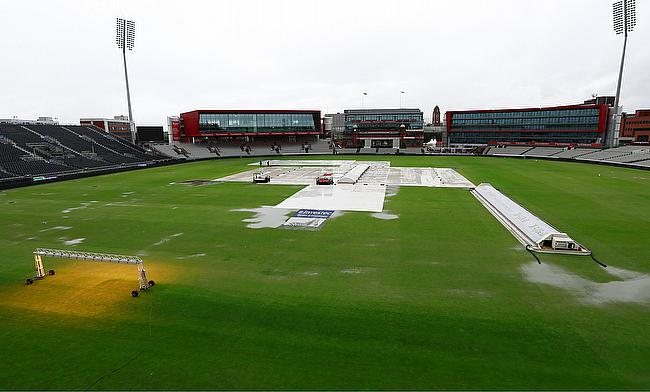 Picture of the Old Trafford ground on Thursday