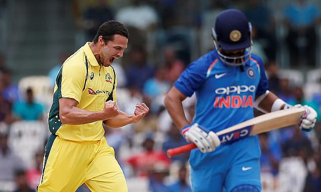 Nathan Coulter-Nile (left) was impressive in the first game in Chennai