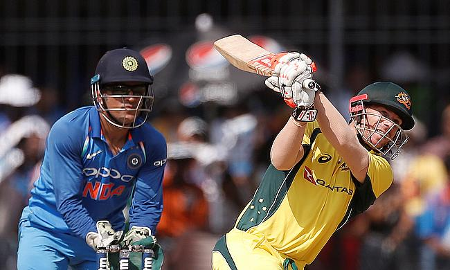 David Warner (right) was the standout performer for Australia in Bangalore