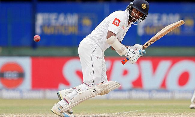 Dimuth Karunaratne scored a 50 before retiring