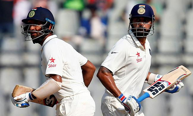 Murali Vijay (right) and Cheteshwar Pujara (left) were brilliant for India
