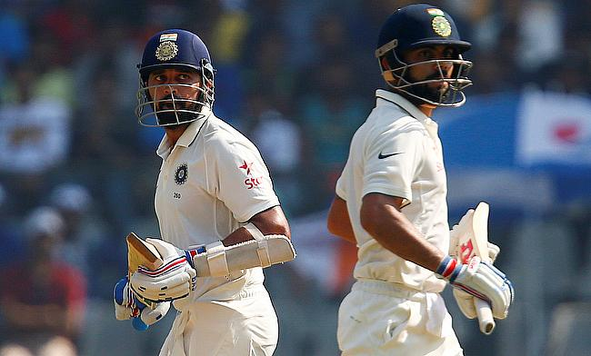 Murali Vijay (left) and Virat Kohli shared 283 runs for the third wicket