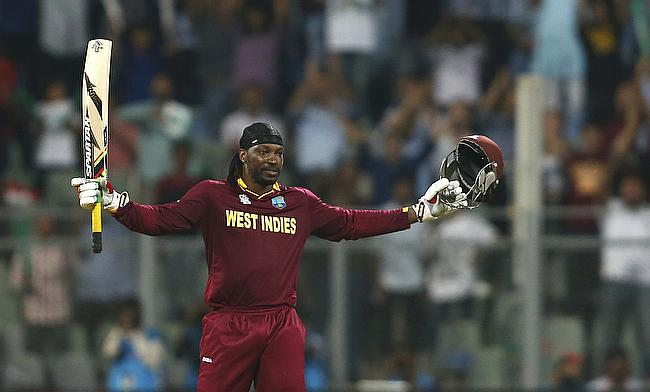 Chris Gayle scored his 20th century in Twenty20