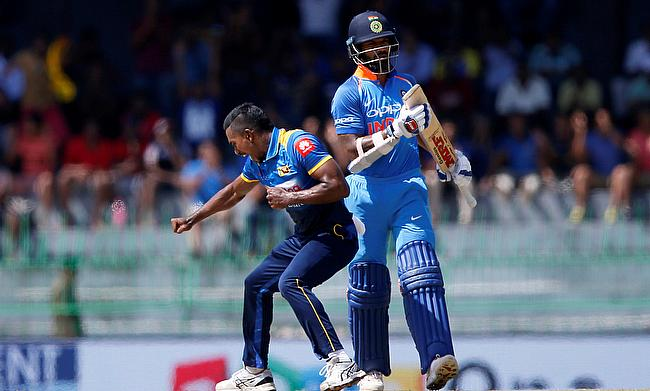 Vishwa Fernando (left) has been named in Sri Lanka's T20I squad