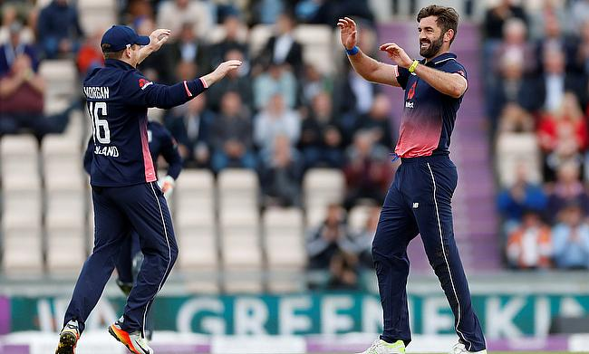 Liam Plunkett (right) picked four wickets in the ongoing series against Australia