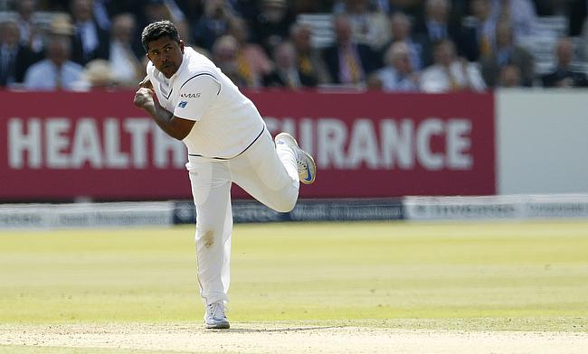 Rangana Herath picked a wicket in the final delivery of the day